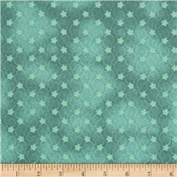 A Walk In The Park Mini Floral Swirl Aqua