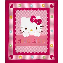 Sanrio Hello Kitty Hearts and Flowers All Over Panel Pink
