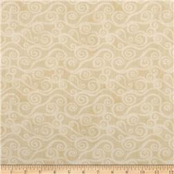 "108"" Wide Quilt Back Swirly Scroll Tan"