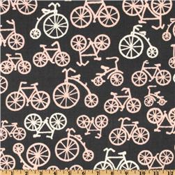 Michael Miller It's a Girl Thing Bicycles Bloom