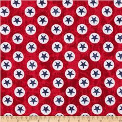 USA Star Dots Red
