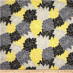 Waverly Sun N Shade Rosette Lemon Fabric