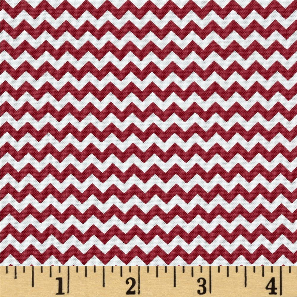Fabric Freedom Construction Chevron Red