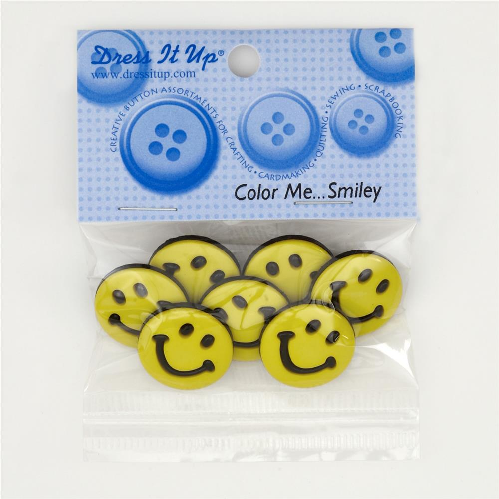 Dress It Up Embellisment Buttons Color Me Smiley