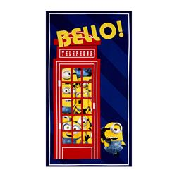 Minions British Invasion Bello! Telephone 24 In, Panel Navy