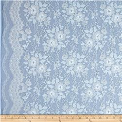 Tricot Stretch Lace Serenity/Silver