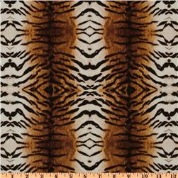 Return To The Wild Tiger Stripe Brown/Ivory Fabric