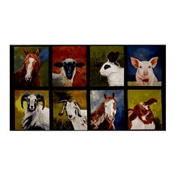 "Kaufman Down On The Farm 23.5"" Panel Farm Animals Nature"