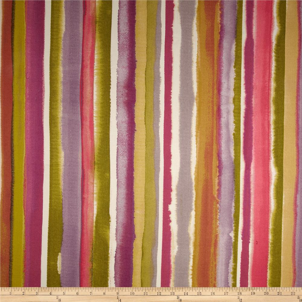 HGTV Home Artistic Streak Stripe Twill Berry