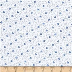 "Kaufman 108"" Quilt Back Hints of Prints Flowers Regatta"