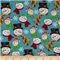 Frosty Flakes Snowmen Heads Blue