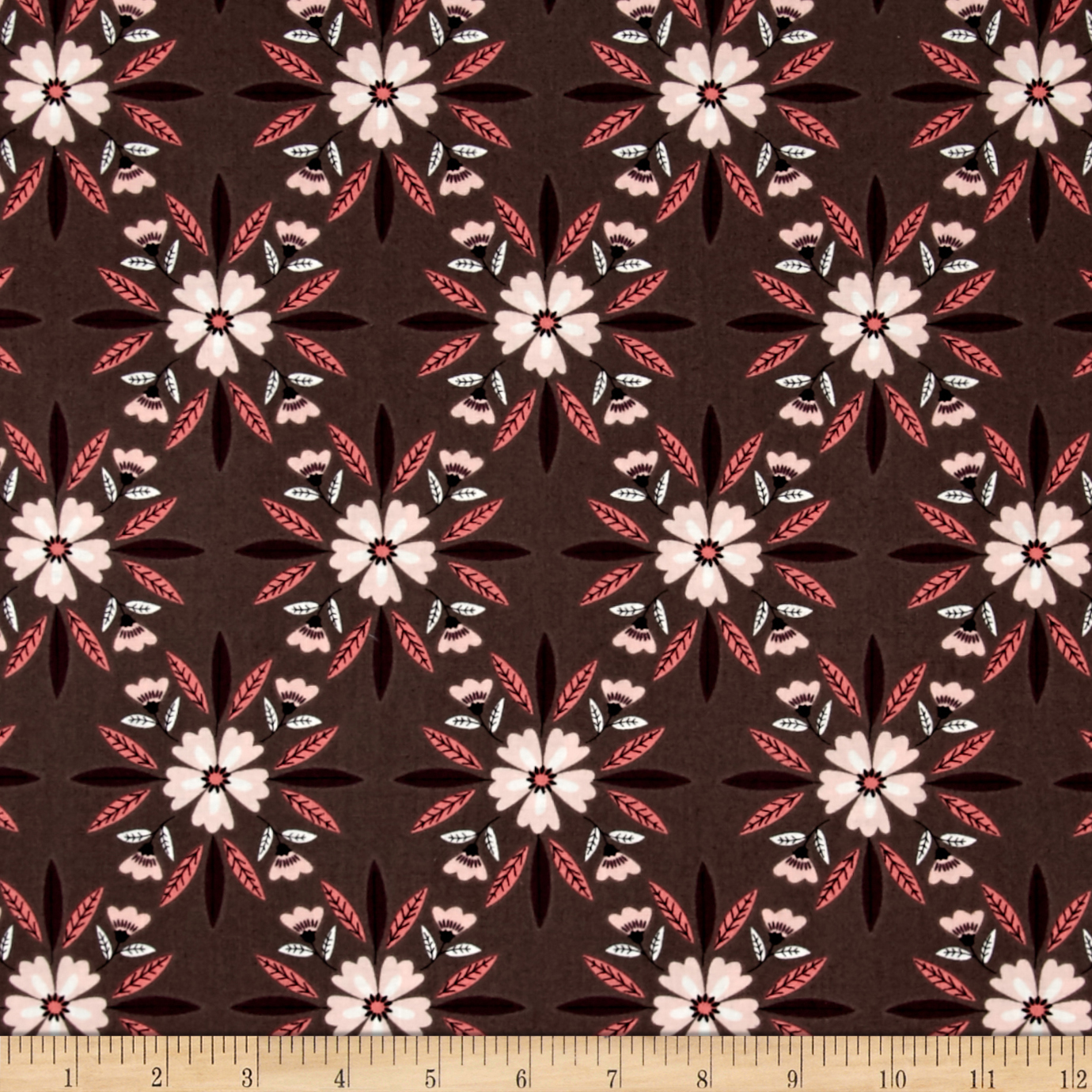 Captivate Mosaic Dark Taupe Fabric Style 446686 by Eugene in USA