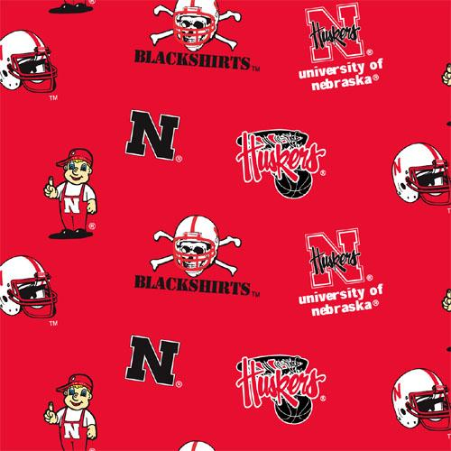Collegiate Fleece University of Nebraska Tossed