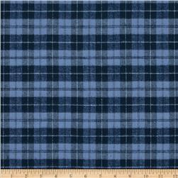 PRIMO PLAIDS FLANNEL SMALL PLAID BLUE/NAVY