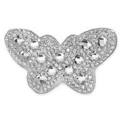 "1 1/2 x 2 3/4"" Iron On Rhinestone Butterfly Applique"