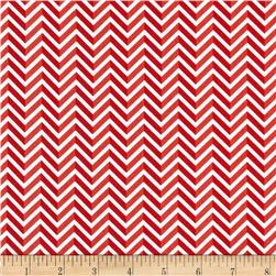 Riley Blake Star Spangled Stripes Chevron Red Fabric