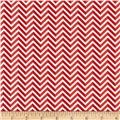 Riley Blake Star Spangled Stripes Chevron Red