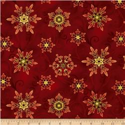 Winter Sanctuary Snowflakes Red