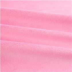Shannon Minky Solid Cuddle 3 Hot Pink