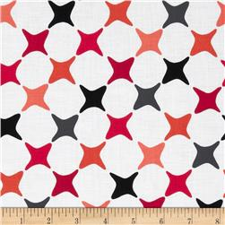 Poppy Modern Star Diagonal Red/Black