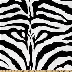 Flocked Taffeta Zebra Print Black/White
