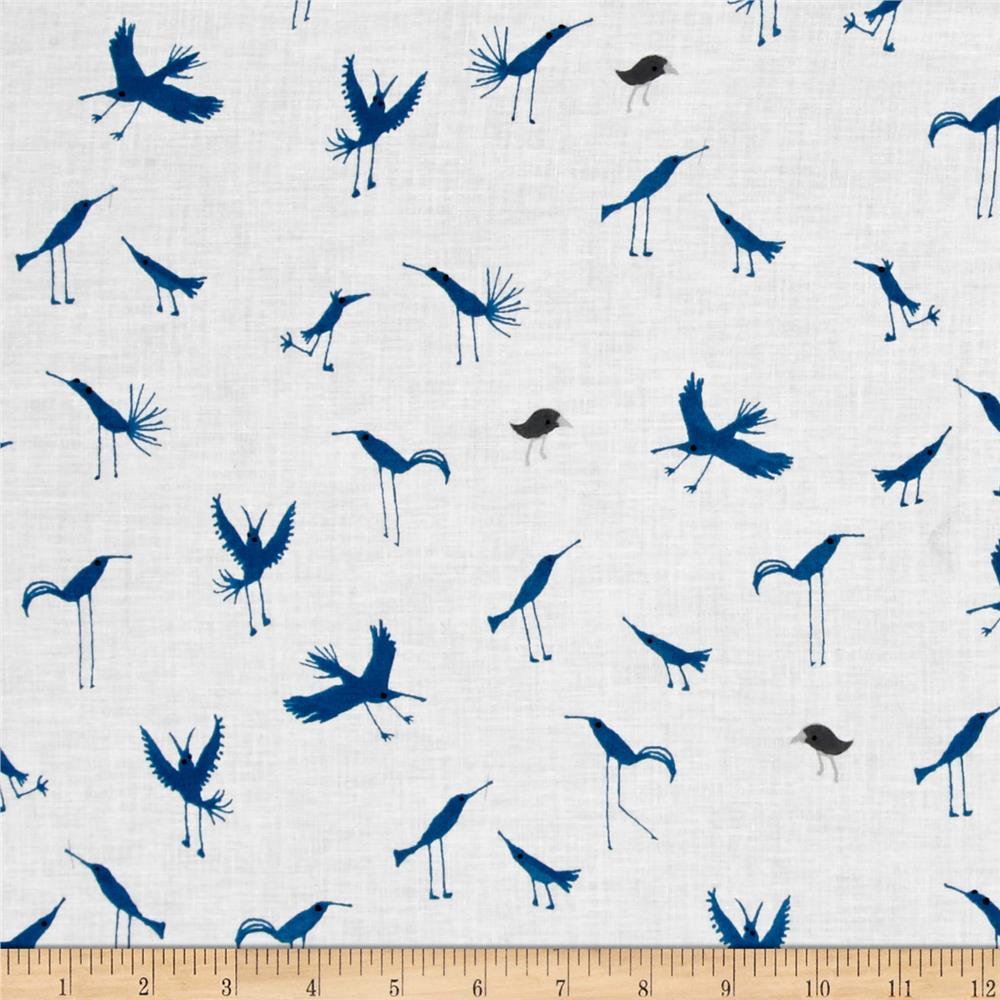 Baby Gone Wild Birds Dark Blue