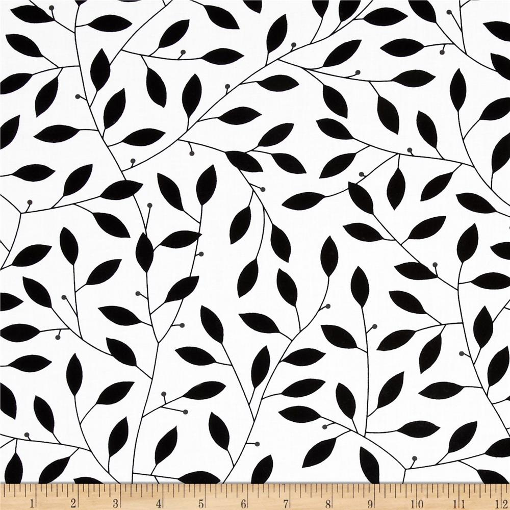 Contempo Cosmopolitan Leaf Vine Black/White