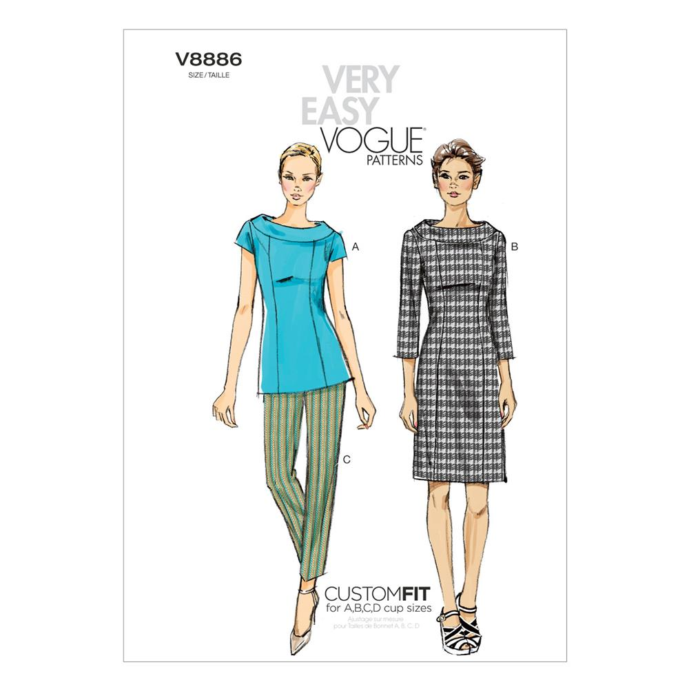 Vogue Misses' Top, Dress and Pants Pattern V8886