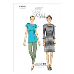 Vogue Misses' Top, Dress and Pants Pattern V8886 Size B50