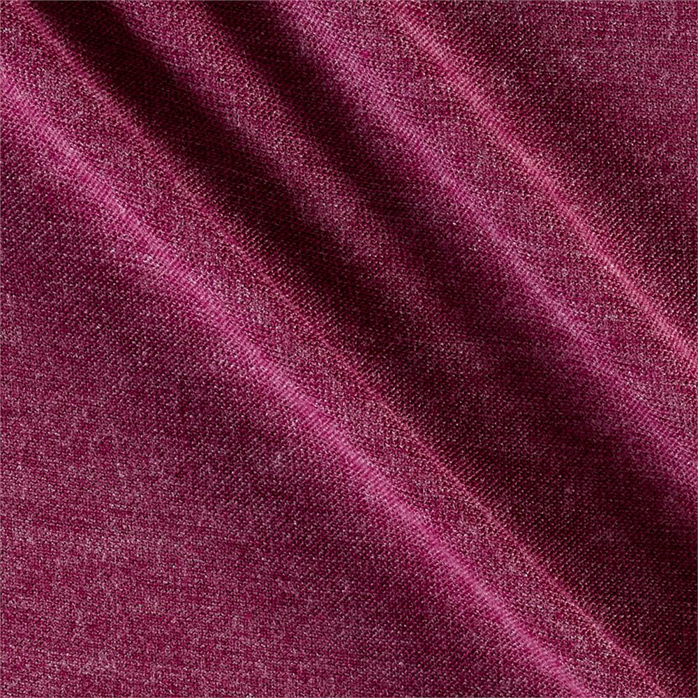 Polyester Jersey Knit Solid Heather Plum Fabric