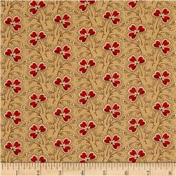 Moda Collection for a Cause Mill Book Clover Leaf Flower Antique Tan