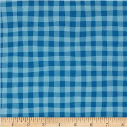 Cuteville Country Fair Gingham Blue