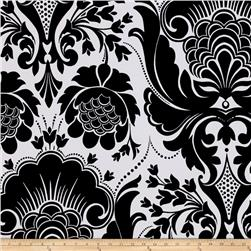 ITY Knit Large Damask Black White