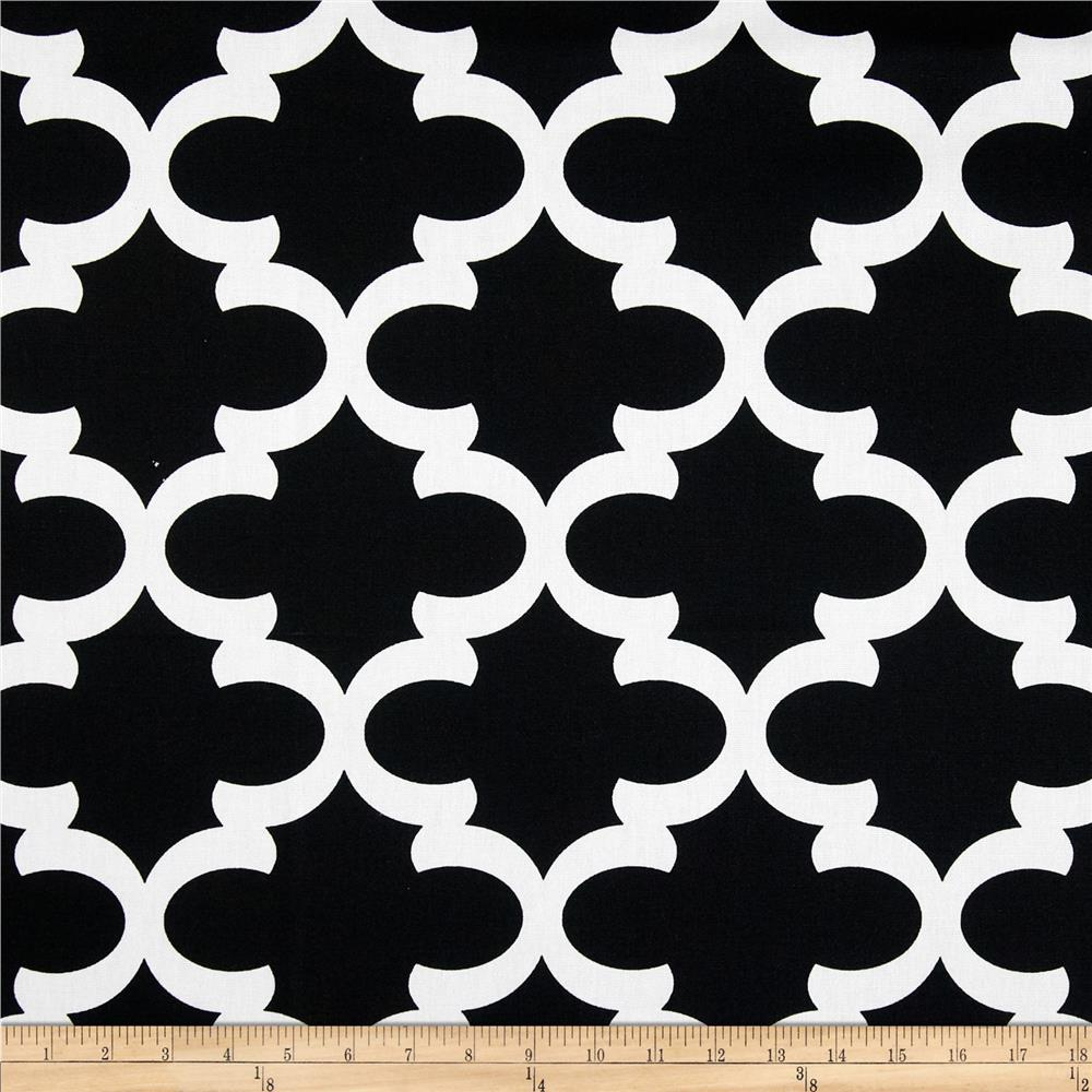 Premier prints fynn black white discount designer fabric for Modern fabrics textiles