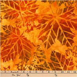 Kaufman Batiks Cornucopia 8 Geo Leaves Autumn
