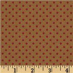 Mrs. March's CollectionSmall Polka Dots Brown/Red