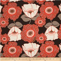 Auntie's Attic Large Floral Canvas Coral
