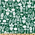 Michael Miller Retro Tiny Veggies Green