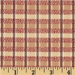 Vintage Rouge Plaid Tan/Burgundy