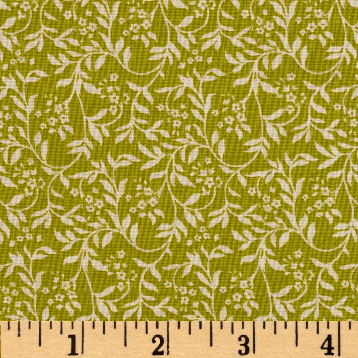 Love Notes Small Floral Vine Green
