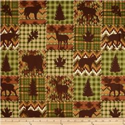 Timber Lodge Flannel Patch Forest Green