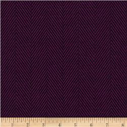 Designer Brushed Herringbone Suiting Ultraviolet