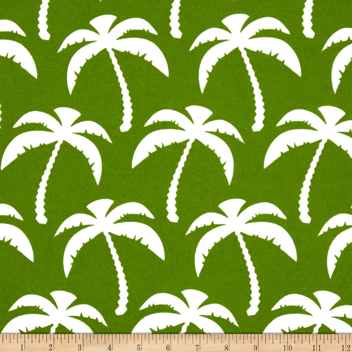 Premier Prints Indoor/Outdoor Palms Bay Green Fabric