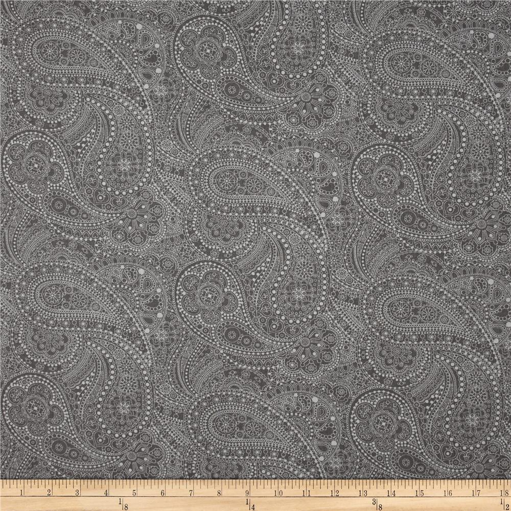 108 wide quilt back chelsea dot paisley medium grey for Quilting material