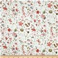 Liberty of London Tana Lawn Floral Eve Coral/Grey