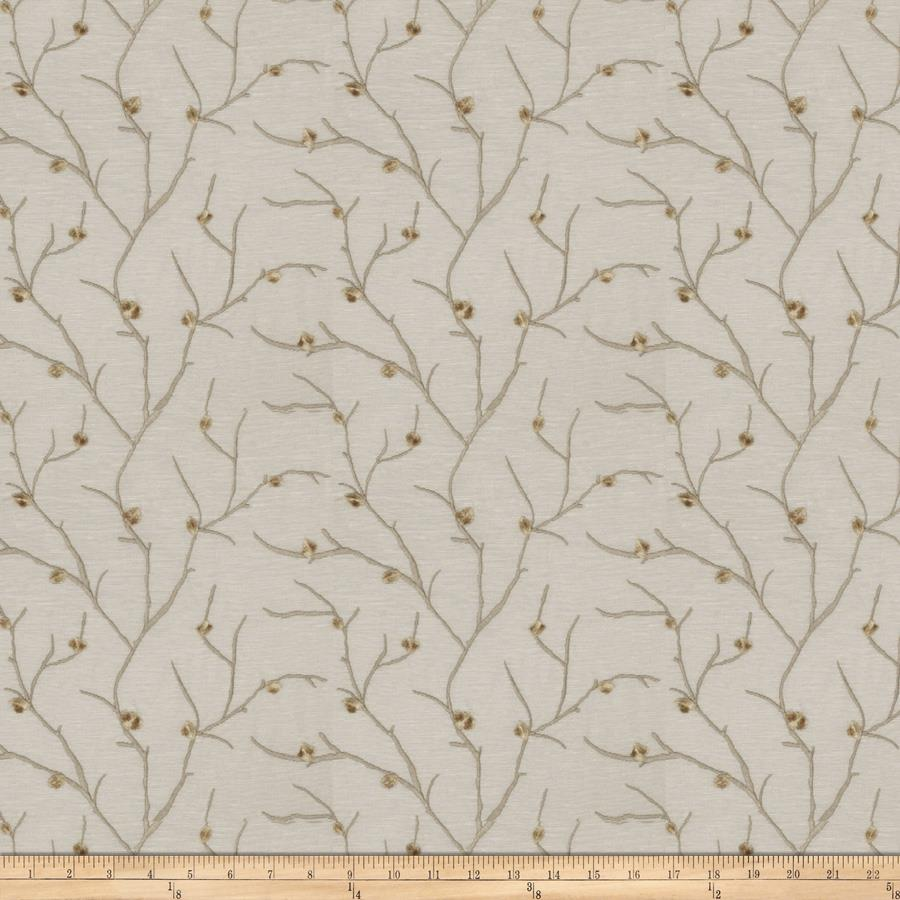 Fabricut embroidered linen norroway taupe discount designer fabric - Taupe kamer linnen ...
