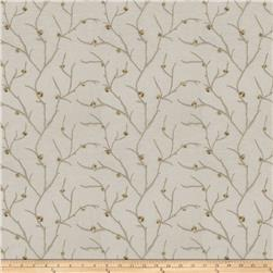 Keller Linen Embroidered Arya Sheers Taupe