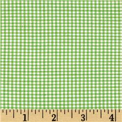 Woven 1/16'' Carolina Gingham Lime
