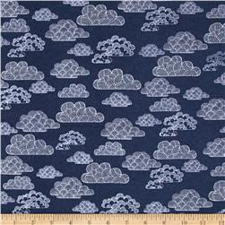 Cloud 9 Organic First Light Flannel Passing Clouds Navy