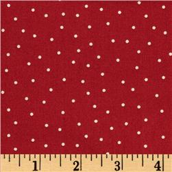 Kimberbell's Merry & Bright Pin Dots Red Fabric